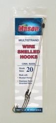 """CINN. BASS"" Wire Snelled Hooks - Multistrand"