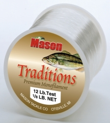 """TRADITIONS"" Premium Monofilament - 1/8 Lb. Net"
